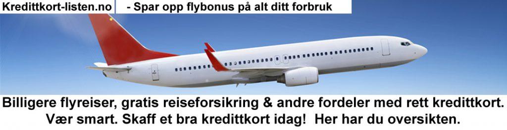Beste kredittkort med flybonus